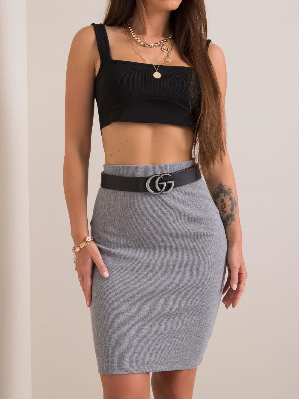 Szara ołówkowa spódnica damska Bonnie 3