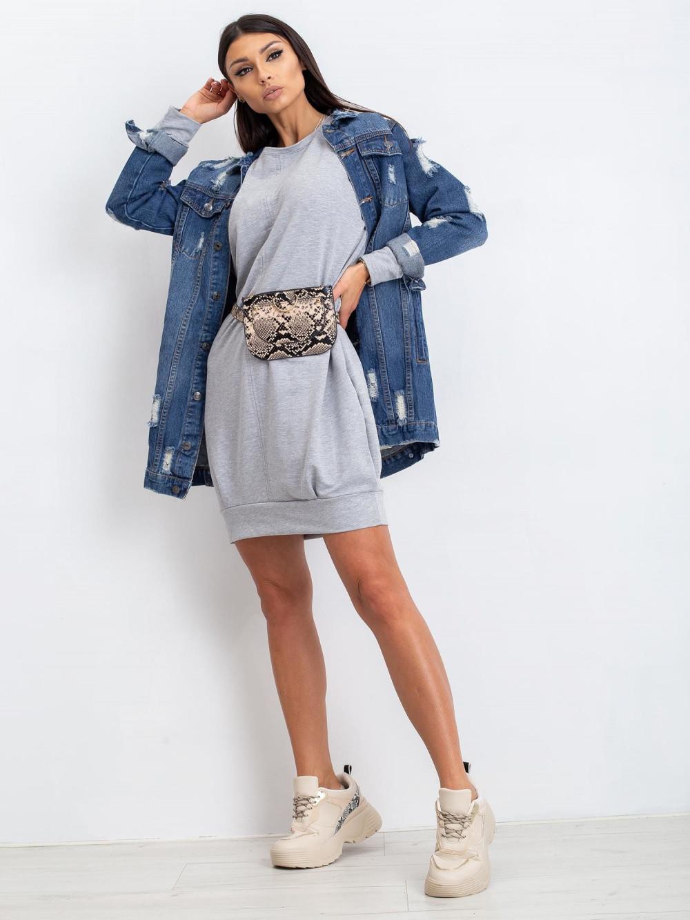 Szara sukienka bluza Anglet 3