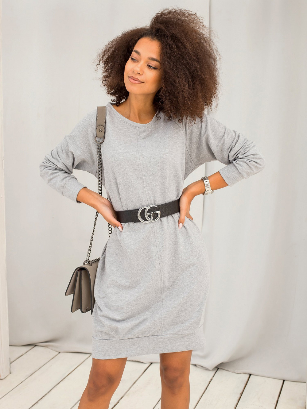Szara sukienka bluza Anglet 4