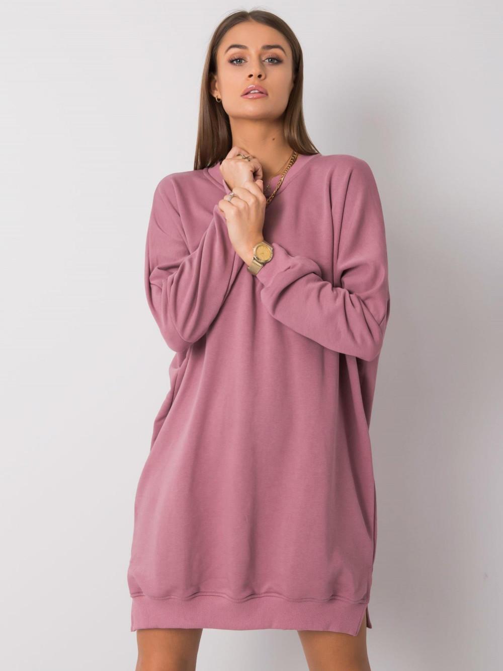 Wrzosowa sukienka bluza oversize Castres 1