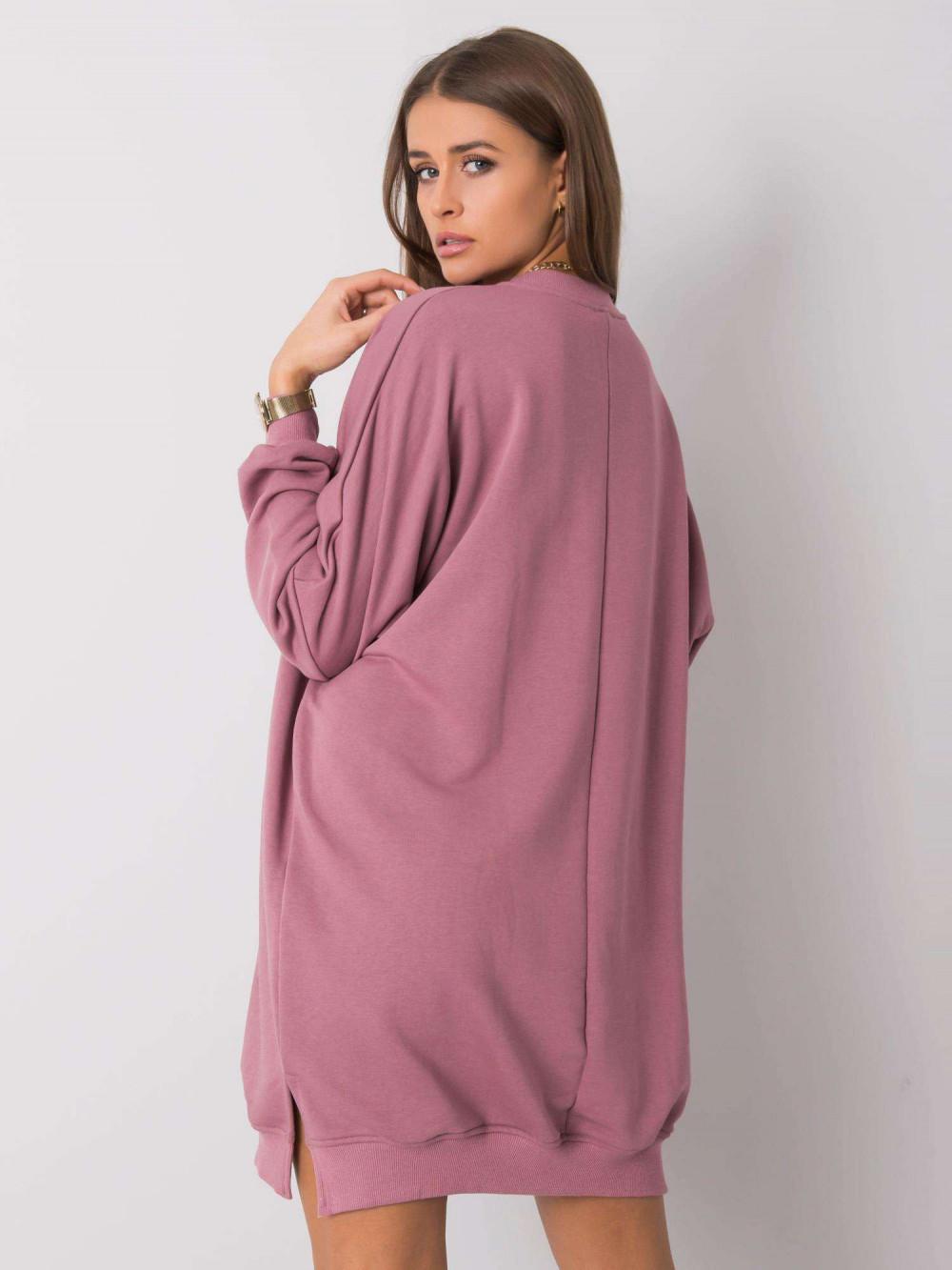 Wrzosowa sukienka bluza oversize Castres 2