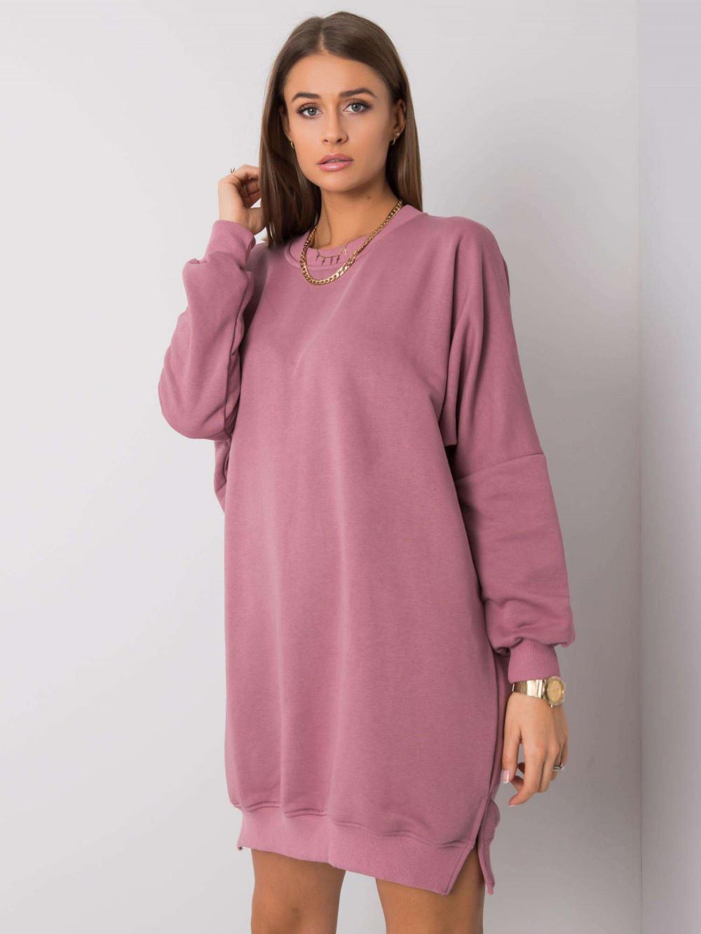 Wrzosowa sukienka bluza oversize Castres 3