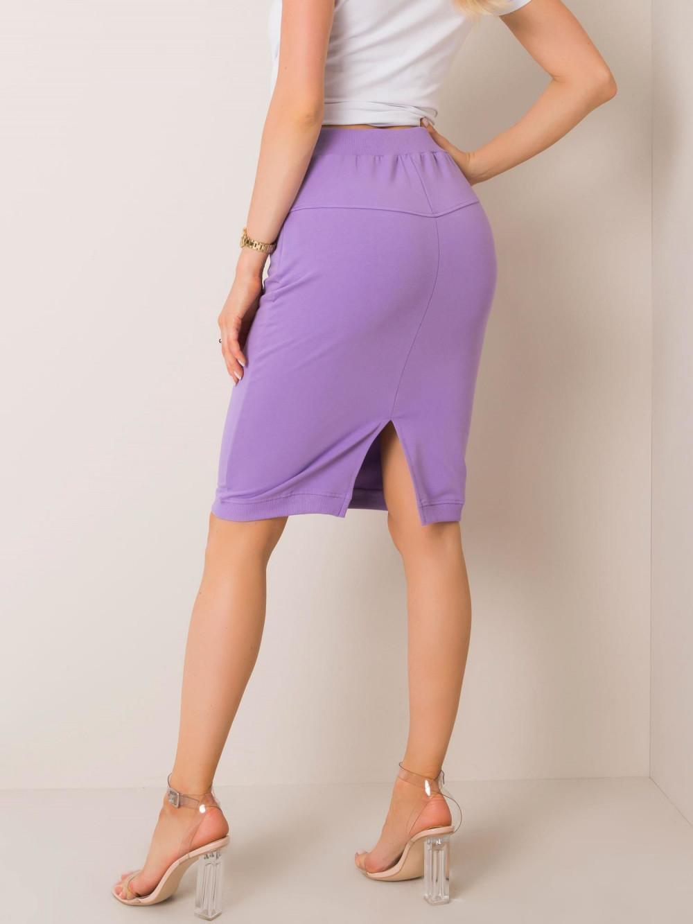Fioletowa spódnica dresowa z wycięciem Orchid 2