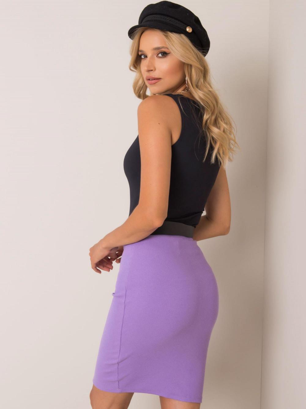 Fioletowa ołówkowa spódnica damska Bonnie 3