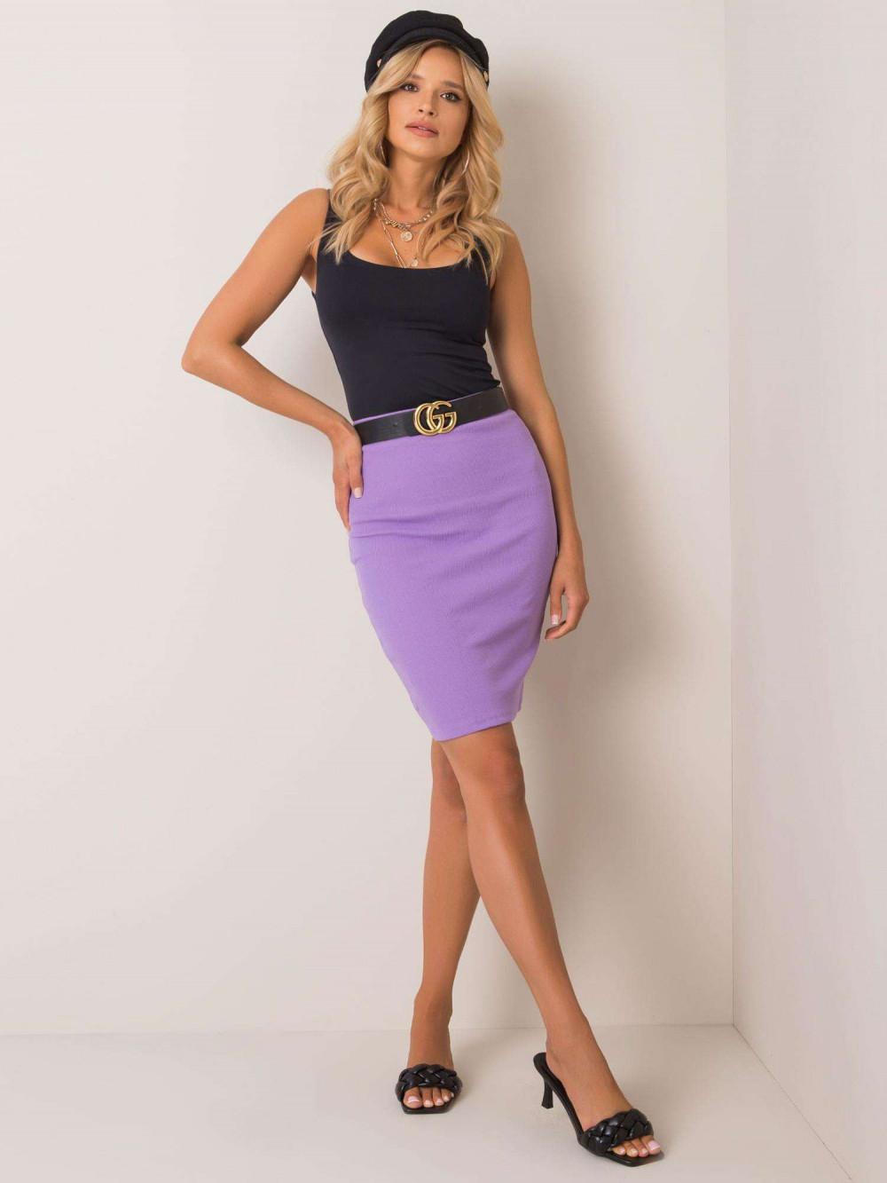 Fioletowa ołówkowa spódnica damska Bonnie 1