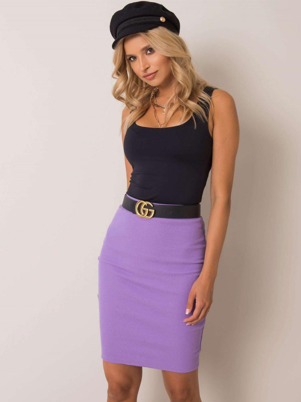 Fioletowa ołówkowa spódnica damska Bonnie 2