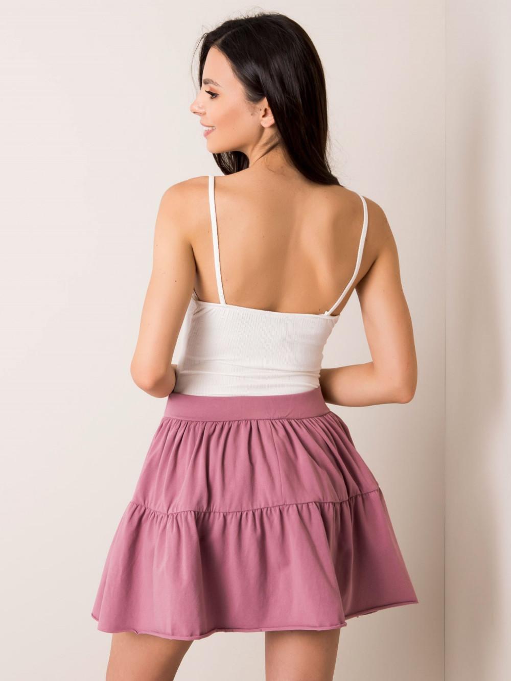 Wrzosowa mini spódniczka rozkloszowana Sannois 2