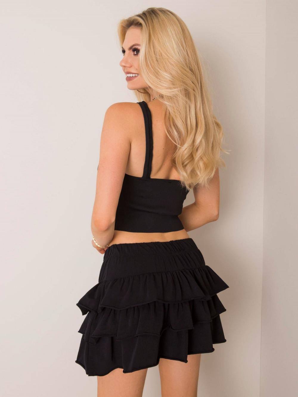 Czarna spódniczka z falbankami mini Mari 2