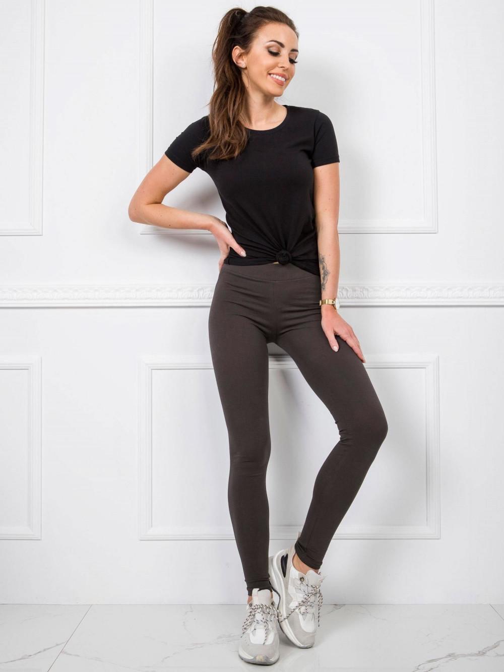 Khaki legginsy fitness Prime 1