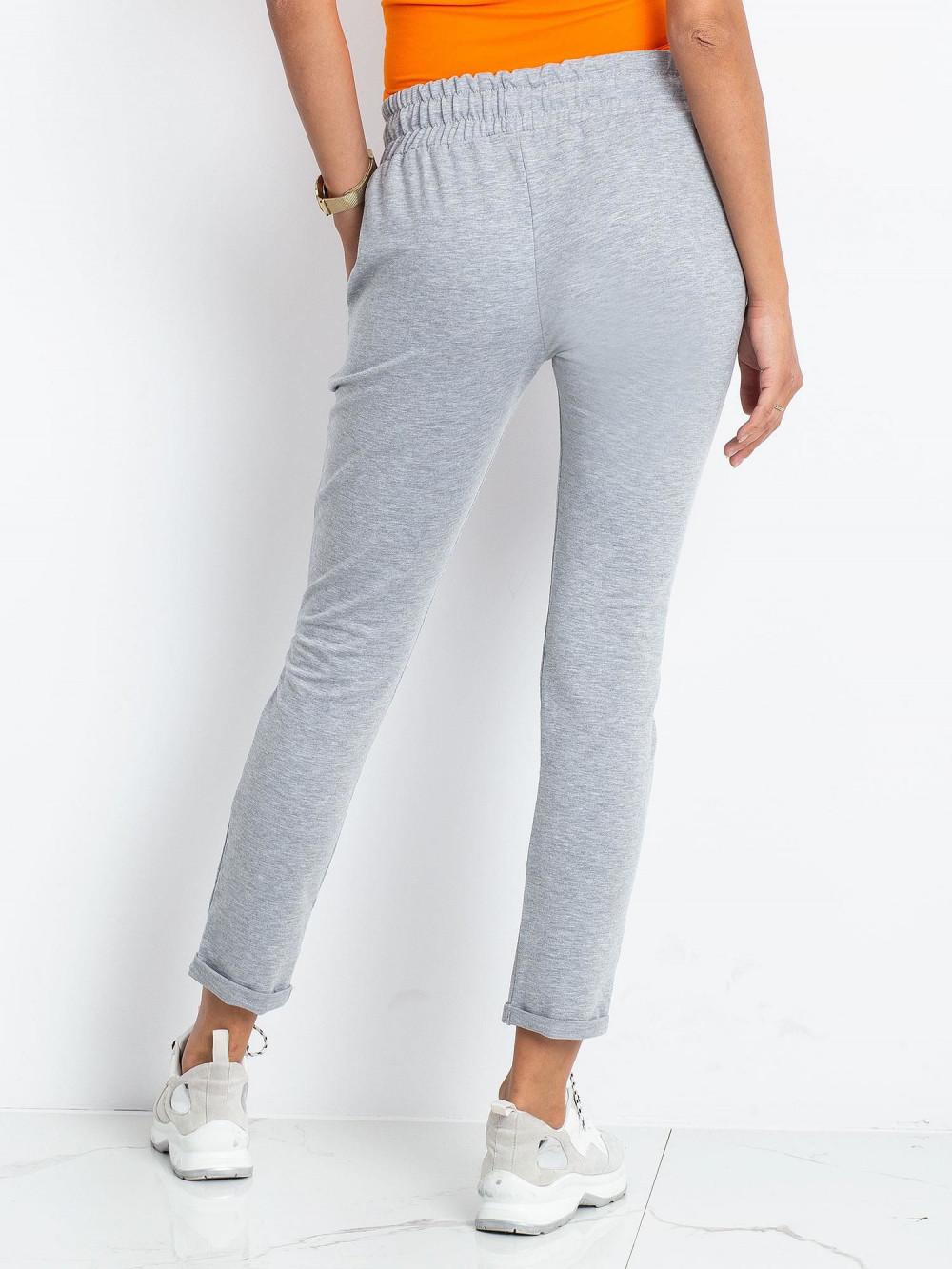 Szare spodnie dresowe z kieszeniami Sage 4