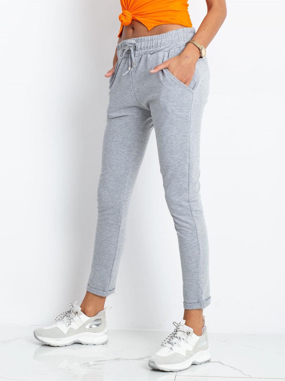 Szare spodnie dresowe z kieszeniami Sage 3