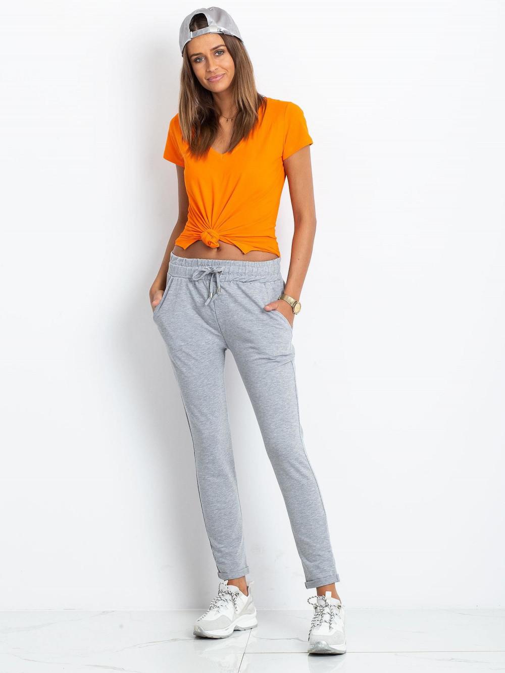 Szare spodnie dresowe z kieszeniami Sage 1