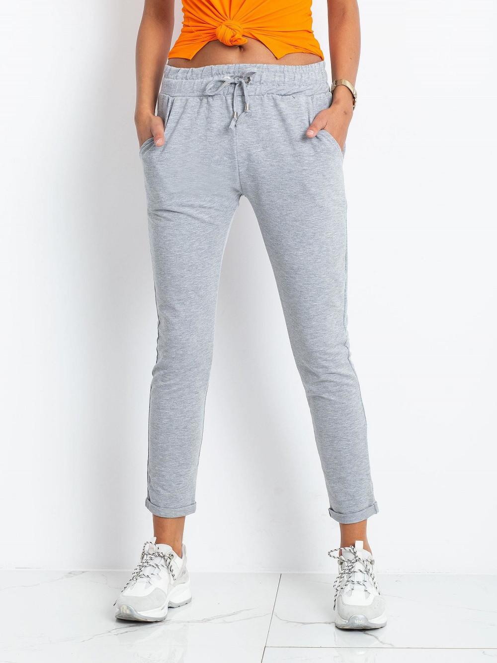 Szare spodnie dresowe z kieszeniami Sage 2