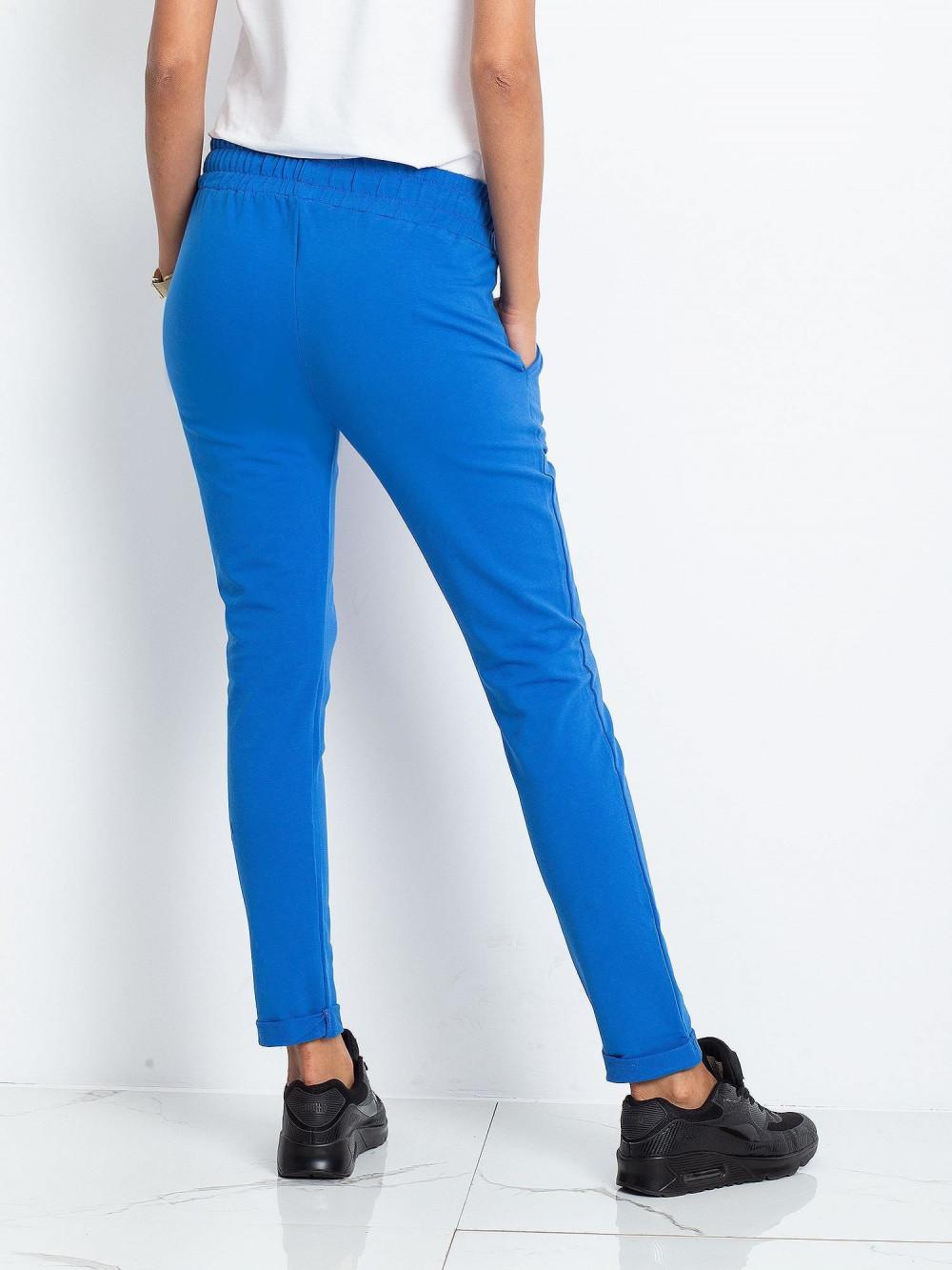Niebieskie spodnie dresowe z kieszeniami Sage 4