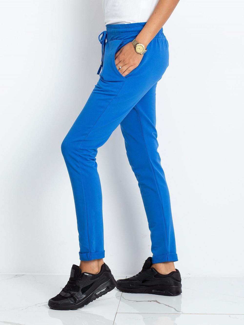 Niebieskie spodnie dresowe z kieszeniami Sage 3