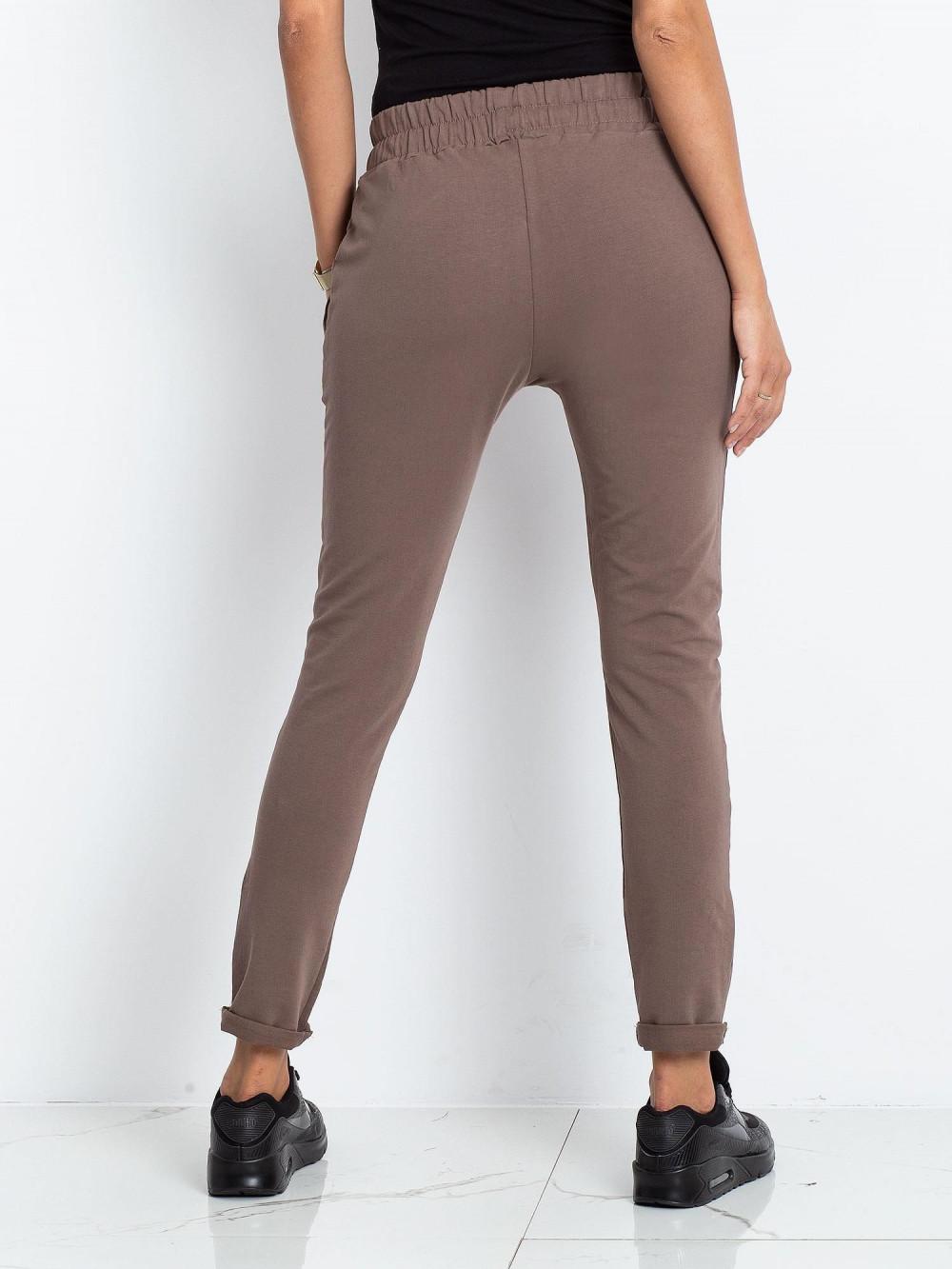 Brązowe spodnie dresowe z kieszeniami Sage 4