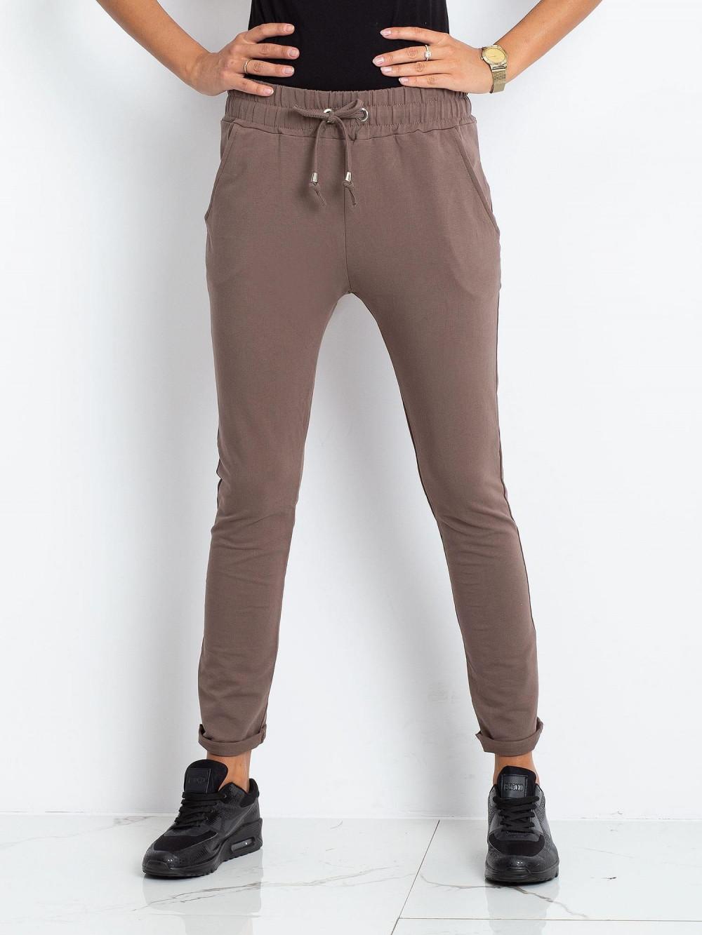 Brązowe spodnie dresowe z kieszeniami Sage 2