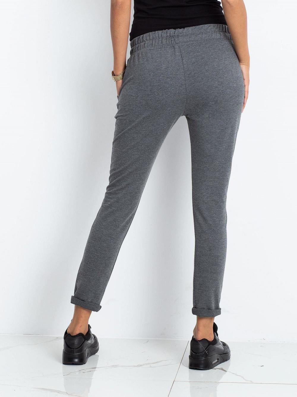 Ciemnoszare spodnie dresowe z kieszeniami Sage 5