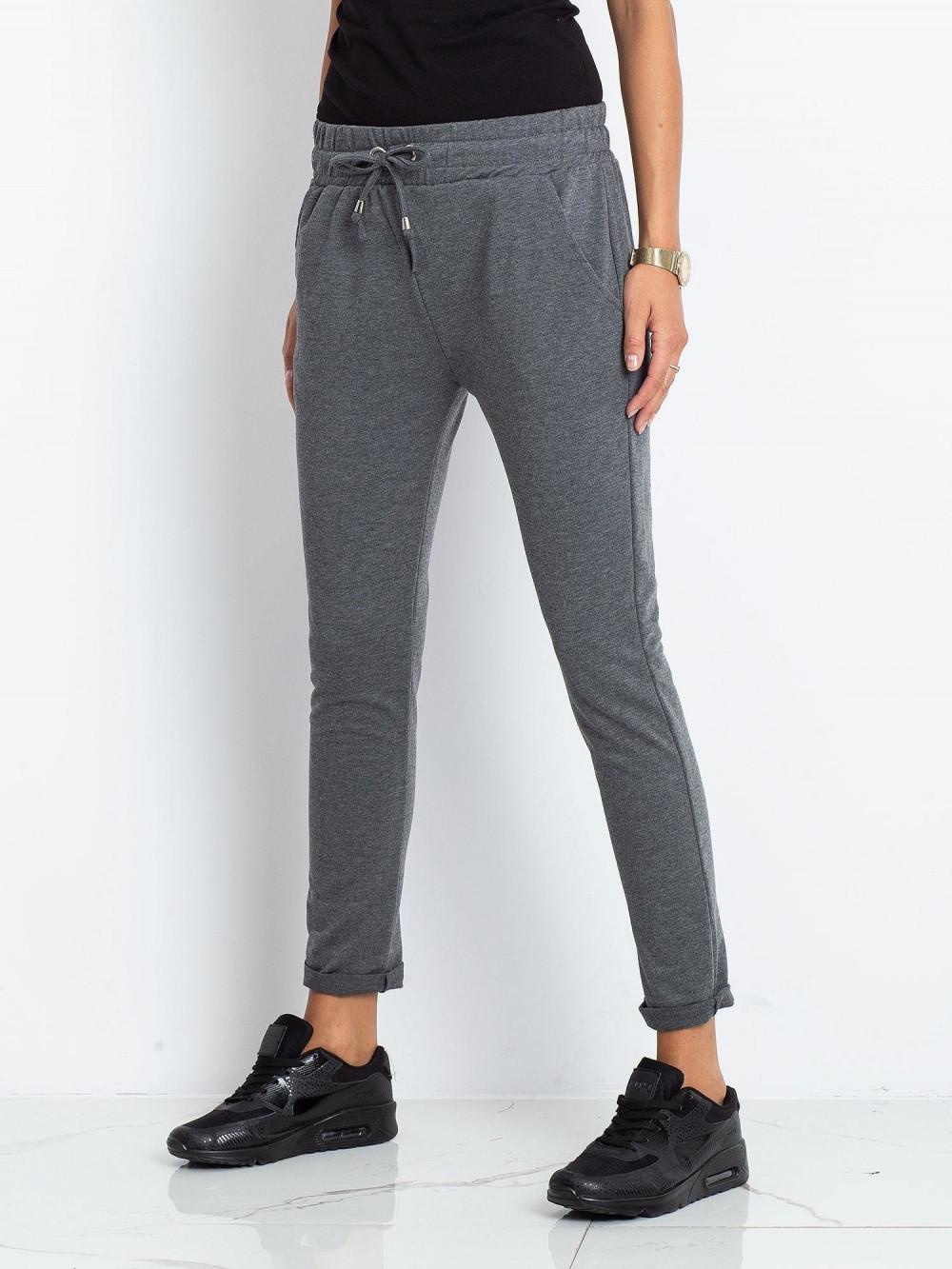 Ciemnoszare spodnie dresowe z kieszeniami Sage 3