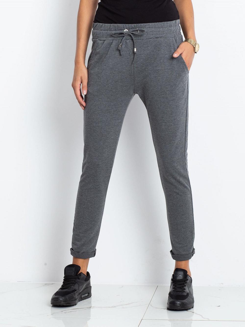 Ciemnoszare spodnie dresowe z kieszeniami Sage 2