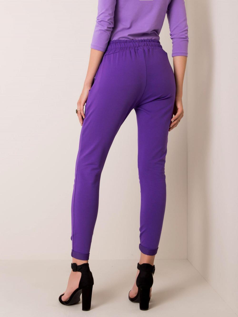 Fioletowe spodnie dresowe z kieszeniami Sage 3