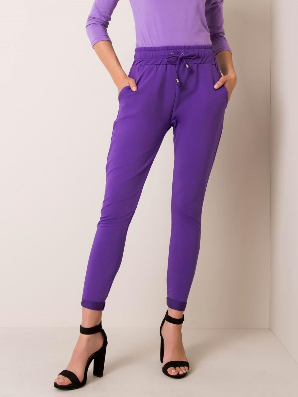 Fioletowe spodnie dresowe z kieszeniami Sage 2