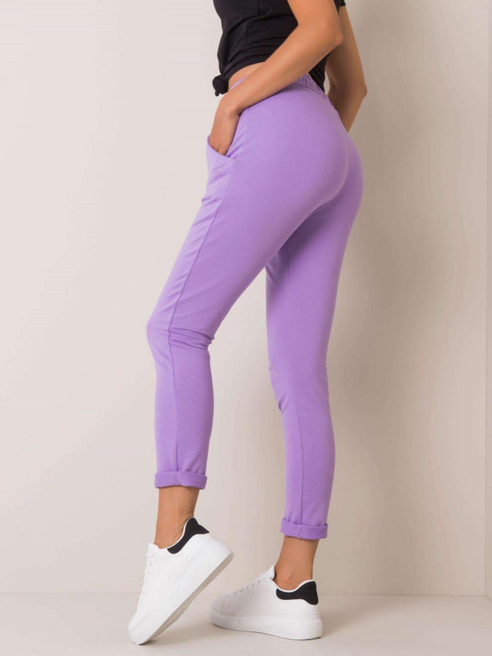 Jasnofioletowe spodnie dresowe z kieszeniami Sage 3