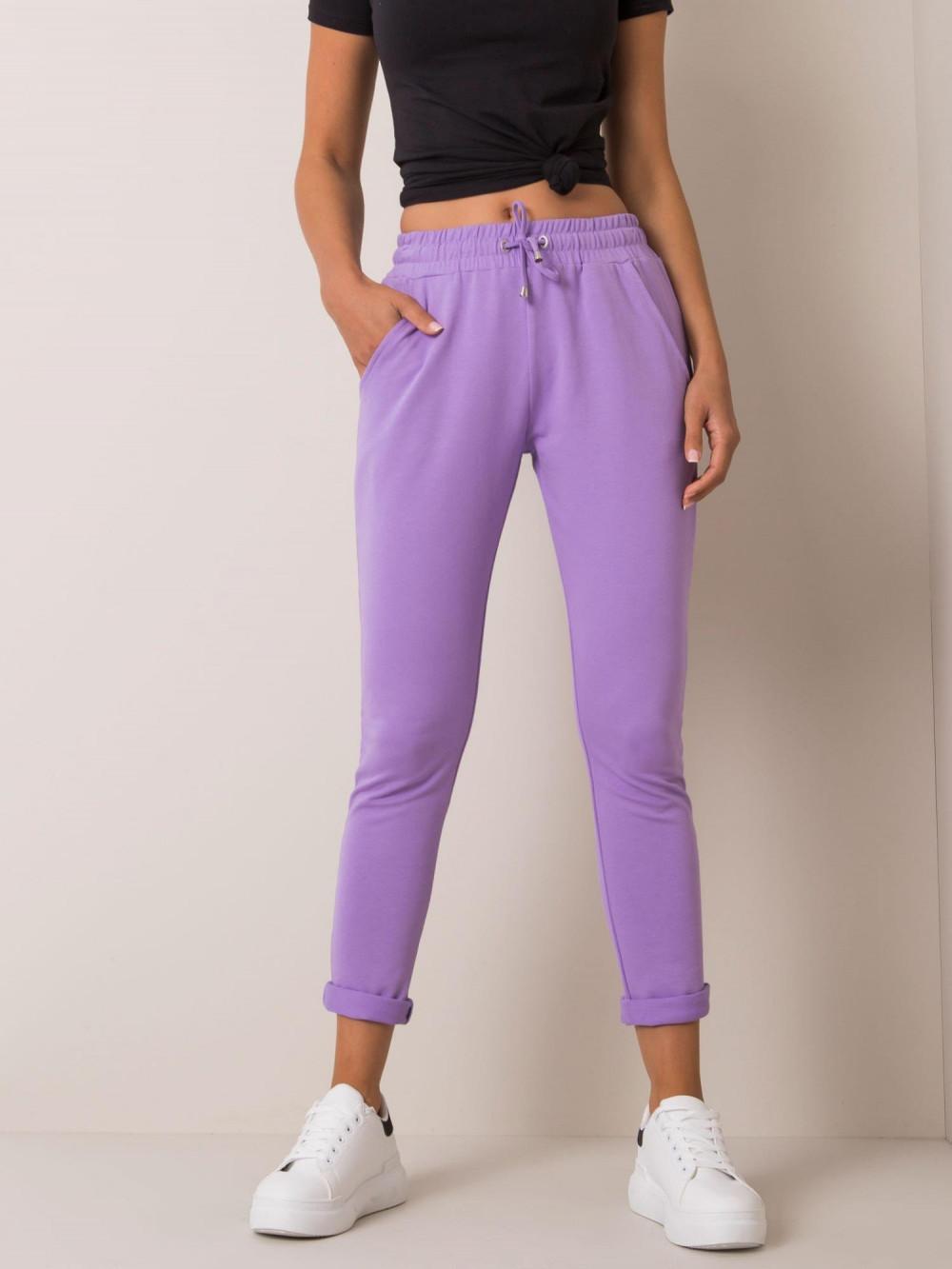 Jasnofioletowe spodnie dresowe z kieszeniami Sage 2