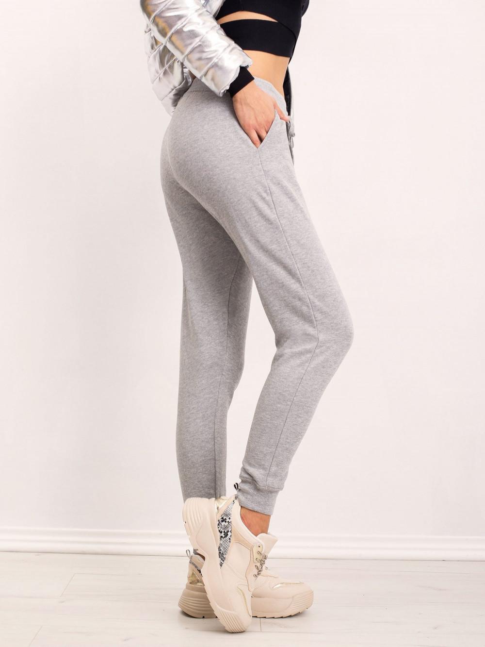 Ekologiczne szare spodnie dresowe z kieszeniami Peans 2