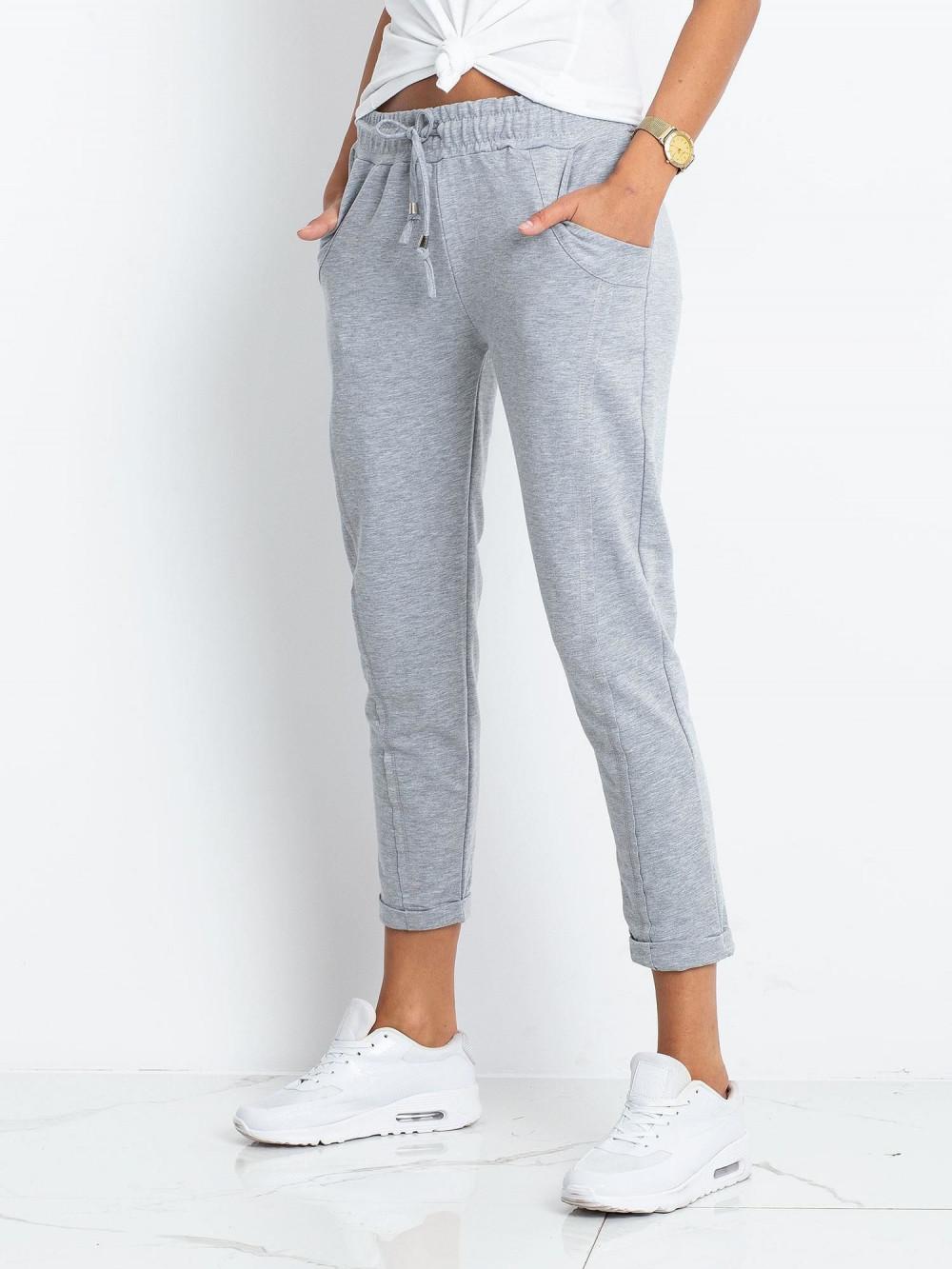 Jasnoszare spodnie dresowe z kieszeniami Viole 3