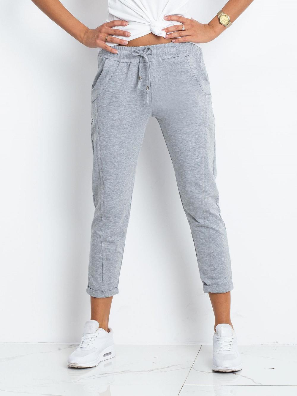 Jasnoszare spodnie dresowe z kieszeniami Viole 2