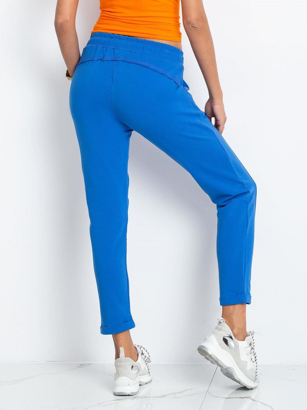 Niebieskie spodnie dresowe z kieszeniami Viole 4
