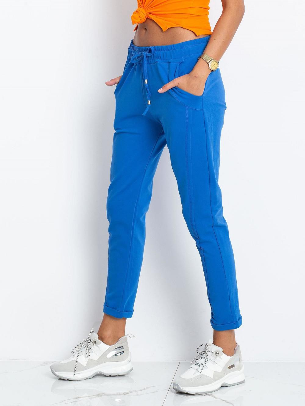 Niebieskie spodnie dresowe z kieszeniami Viole 3
