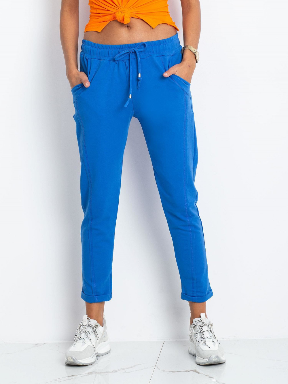 Niebieskie spodnie dresowe z kieszeniami Viole 2