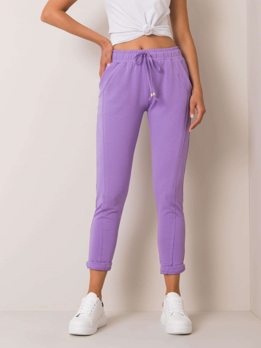 Fioletowe spodnie dresowe z kieszeniami Viole 2