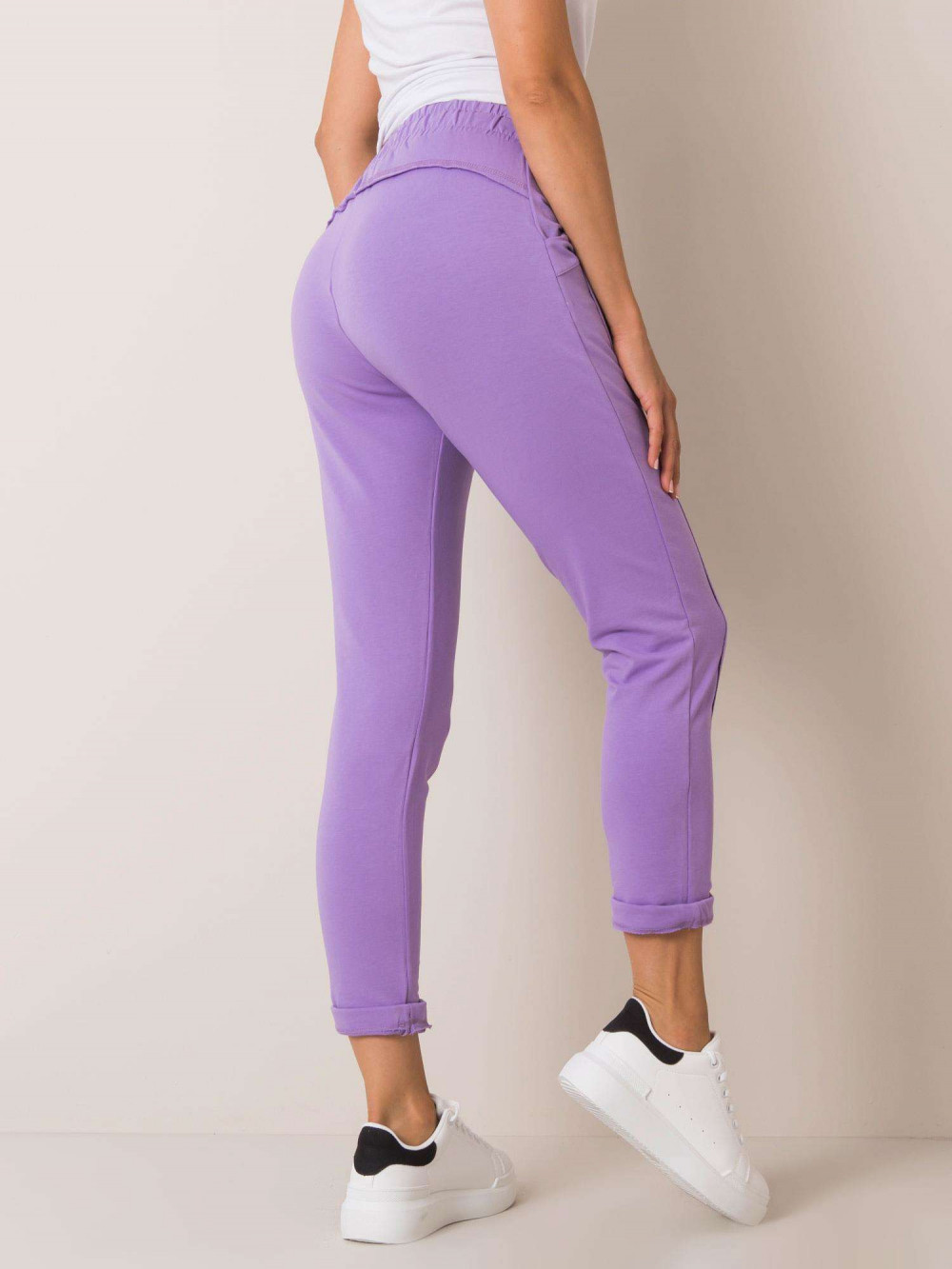Fioletowe spodnie dresowe z kieszeniami Viole 3