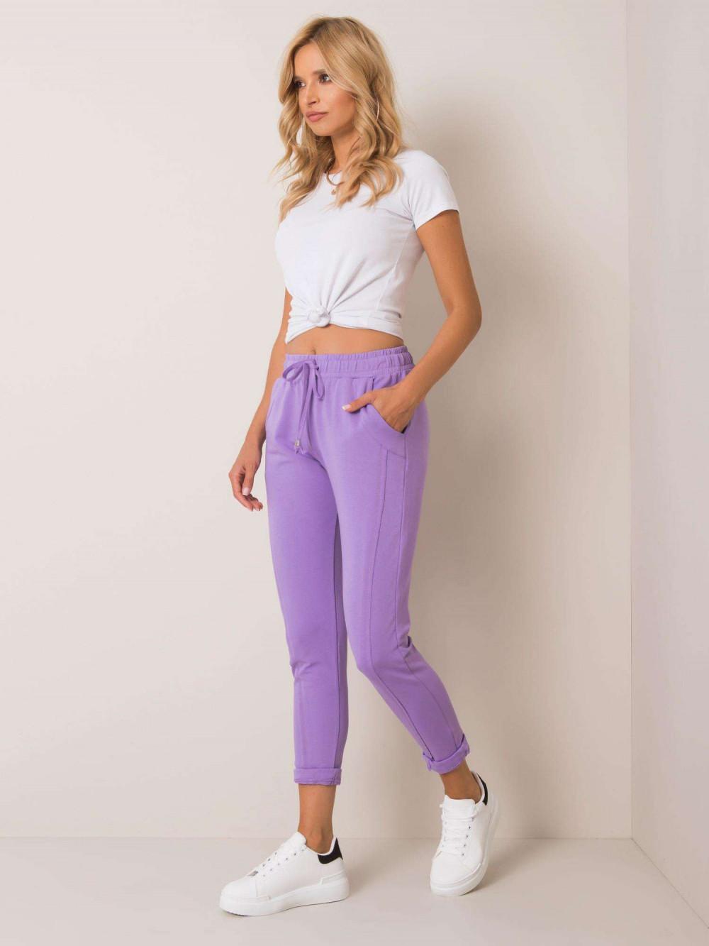 Fioletowe spodnie dresowe z kieszeniami Viole 1