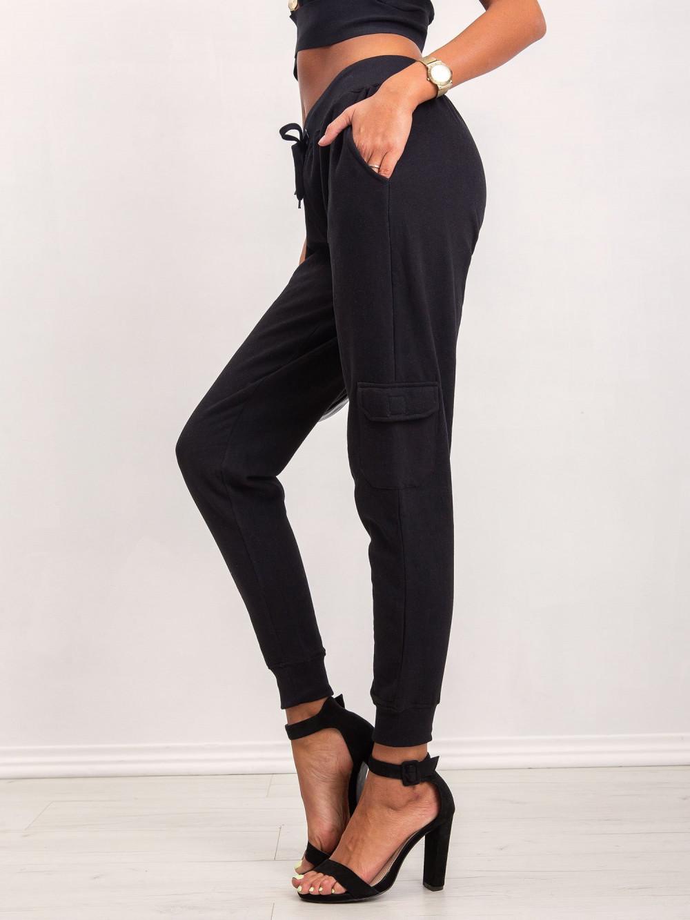Czarne dresowe spodnie military Gerber 4