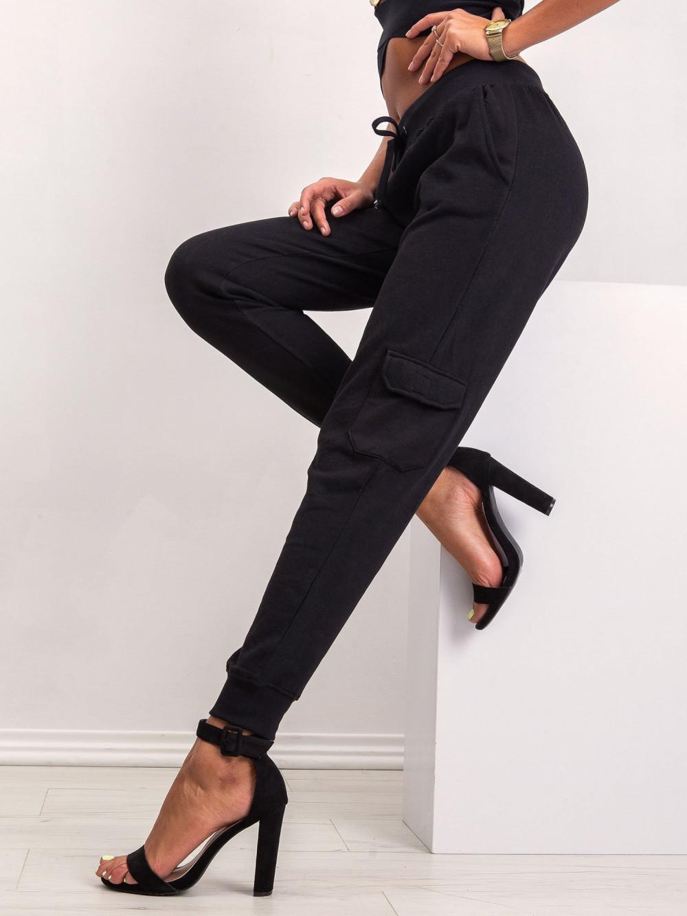 Czarne dresowe spodnie military Gerber 3