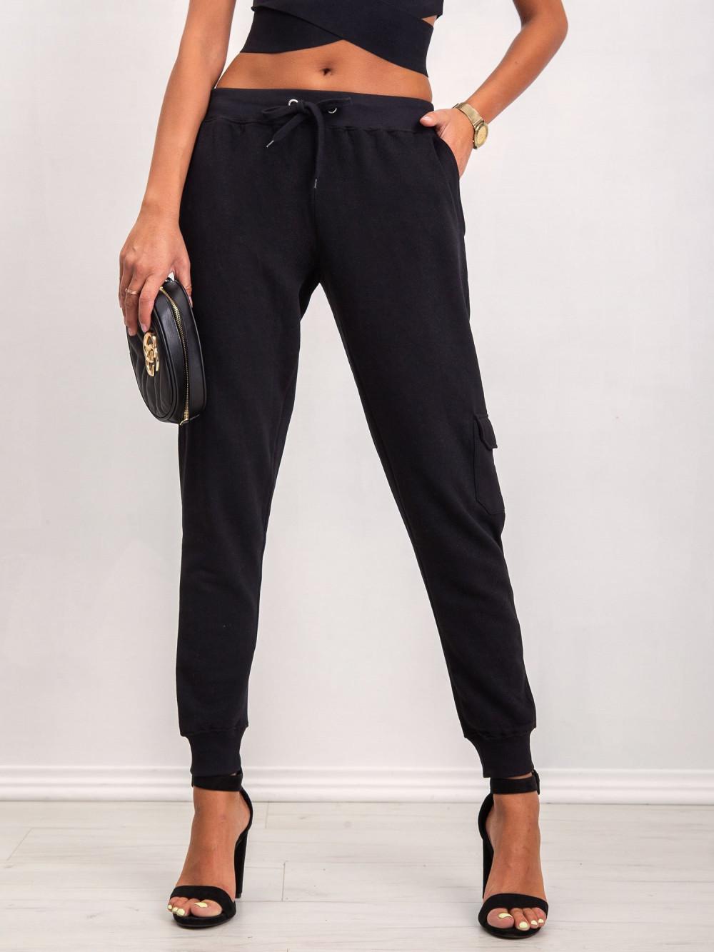 Czarne dresowe spodnie military Gerber 2