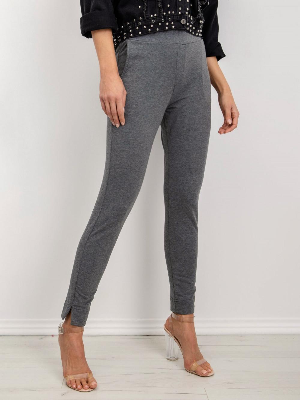 Ciemnoszare dresowe spodnie slim fit Clara 2