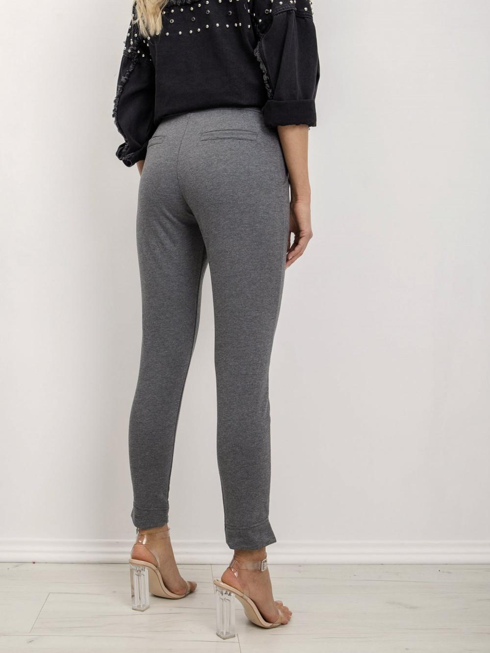 Ciemnoszare dresowe spodnie slim fit Clara 4