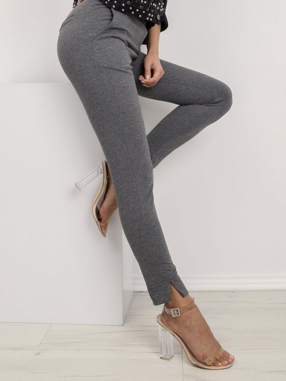 Ciemnoszare dresowe spodnie slim fit Clara 3