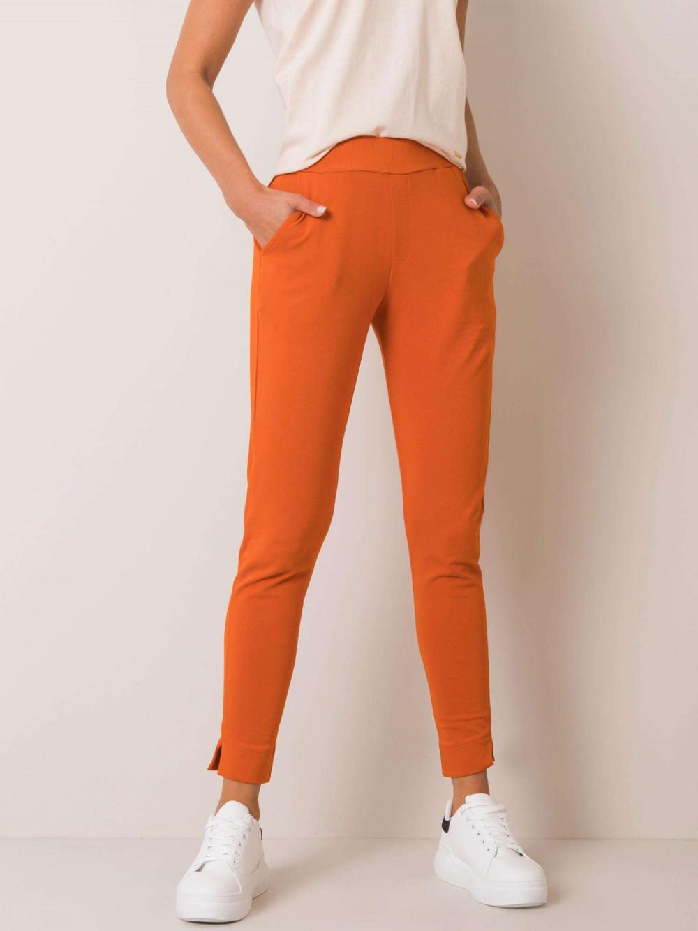 Pomarańczowe dresowe spodnie slim fit Clara 2