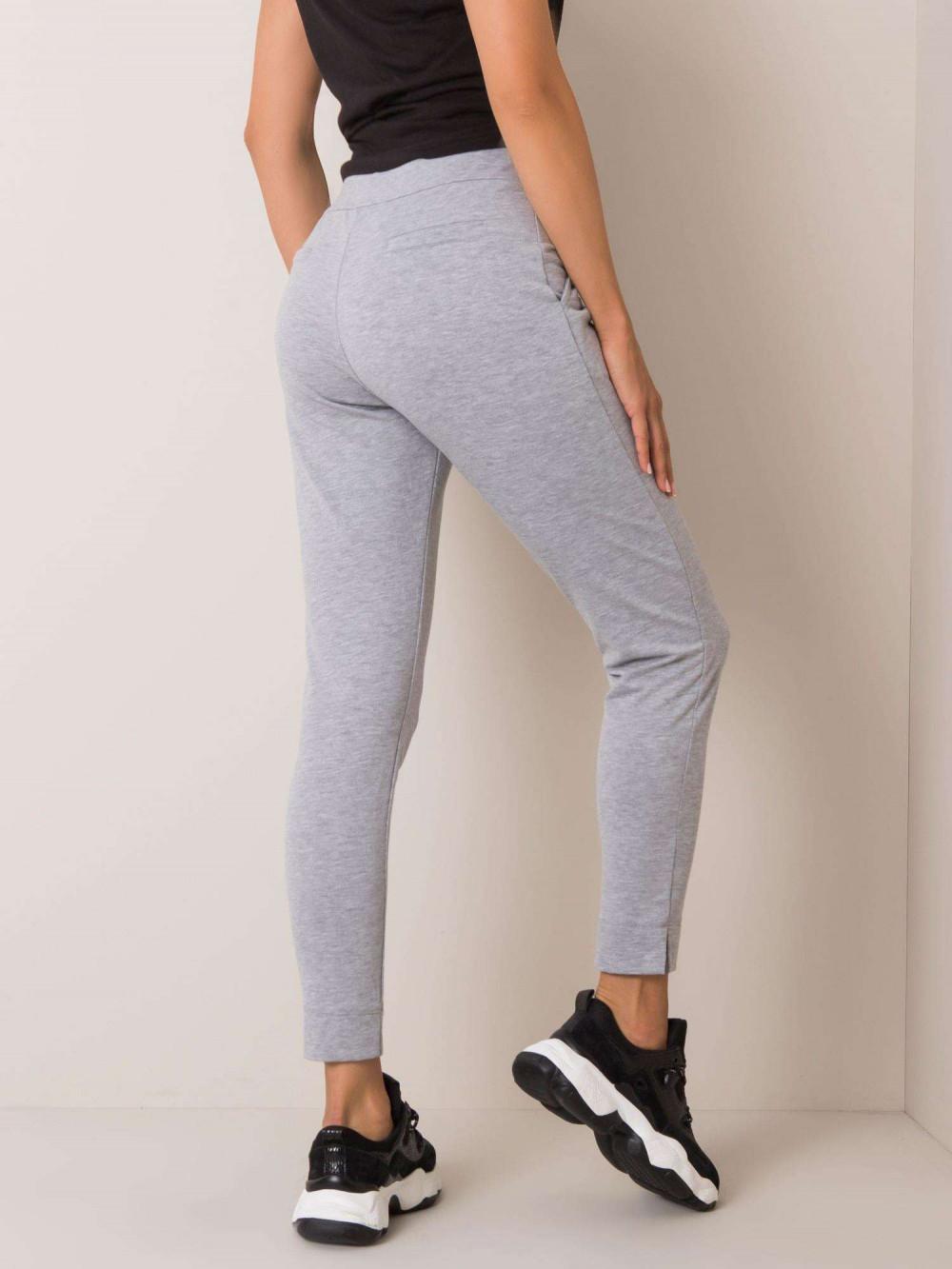 Szare dresowe spodnie slim fit Clara 3