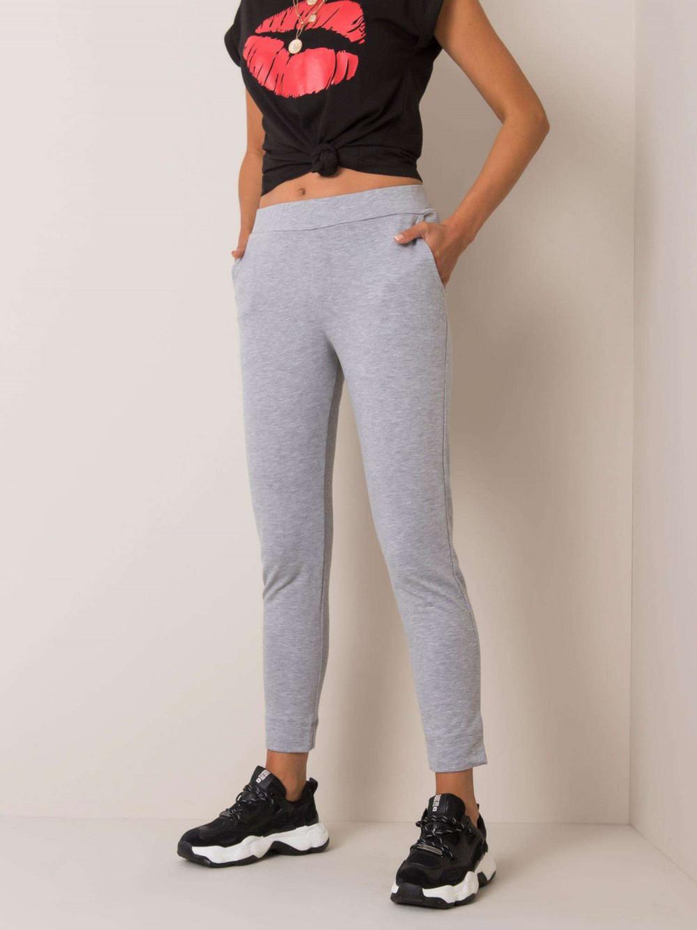 Szare dresowe spodnie slim fit Clara 2