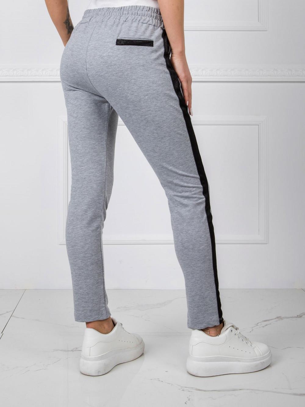 Szare dresowe spodnie z lampasami Nikki 3