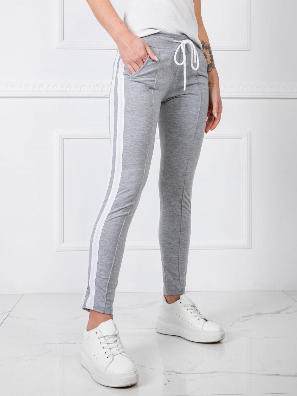 Szare spodnie dresowe z lampasami Iris 3