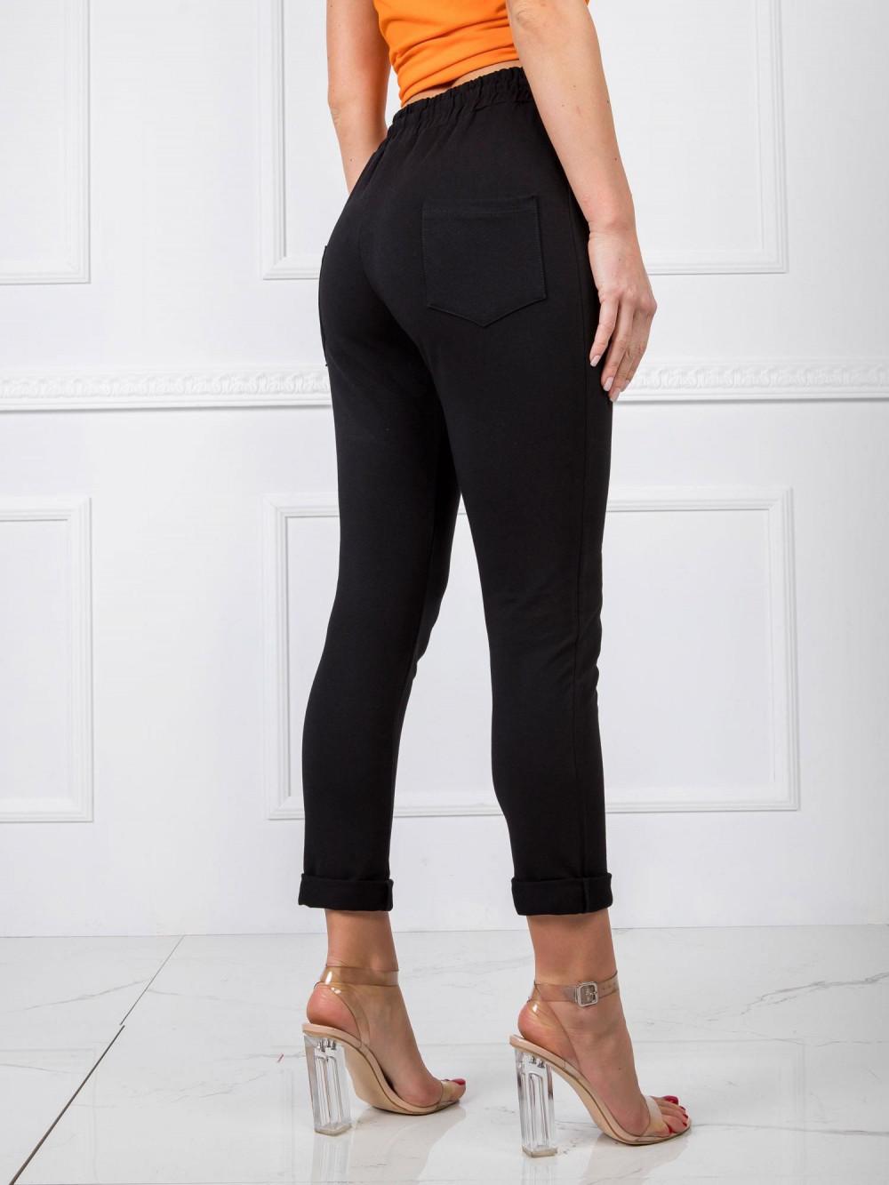Czarne spodnie dresowe z wysokim stanem Primes 3