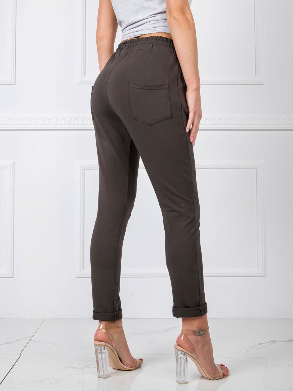 Khaki spodnie dresowe z wysokim stanem Primes 3